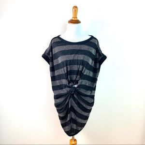 3.1 Phillip Lim Black and Silver Striped Top